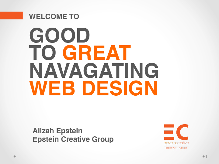 Good to GREAT: Navigating Web Design